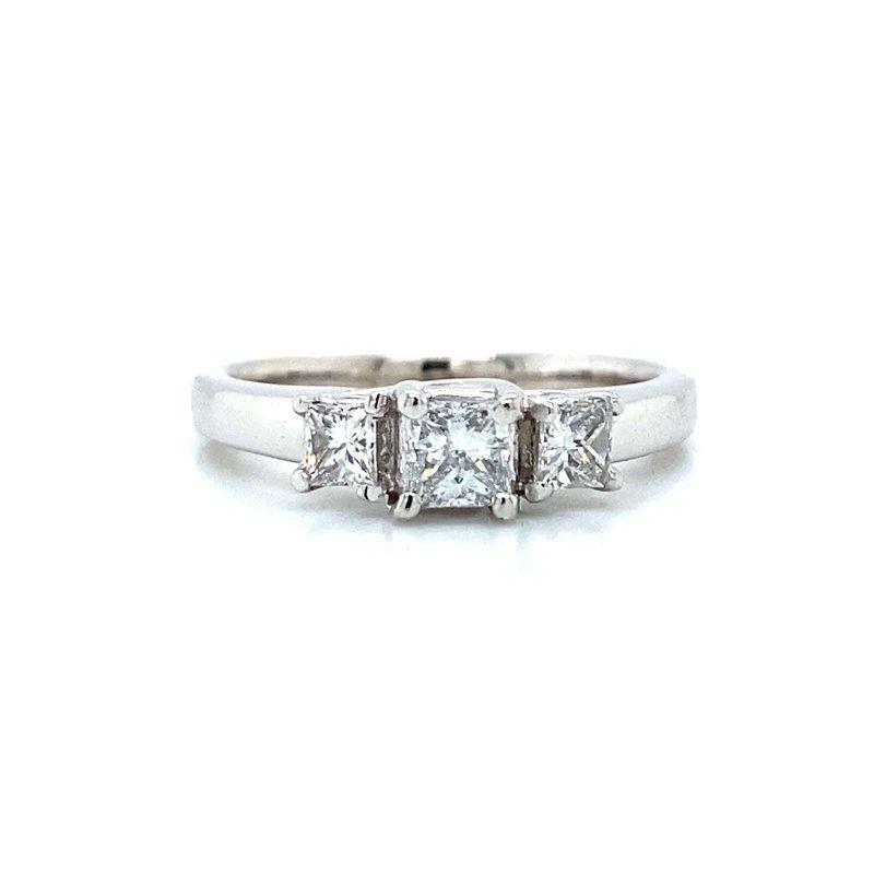 Robert Palma Designs 14K Three-Stone Diamond Ring