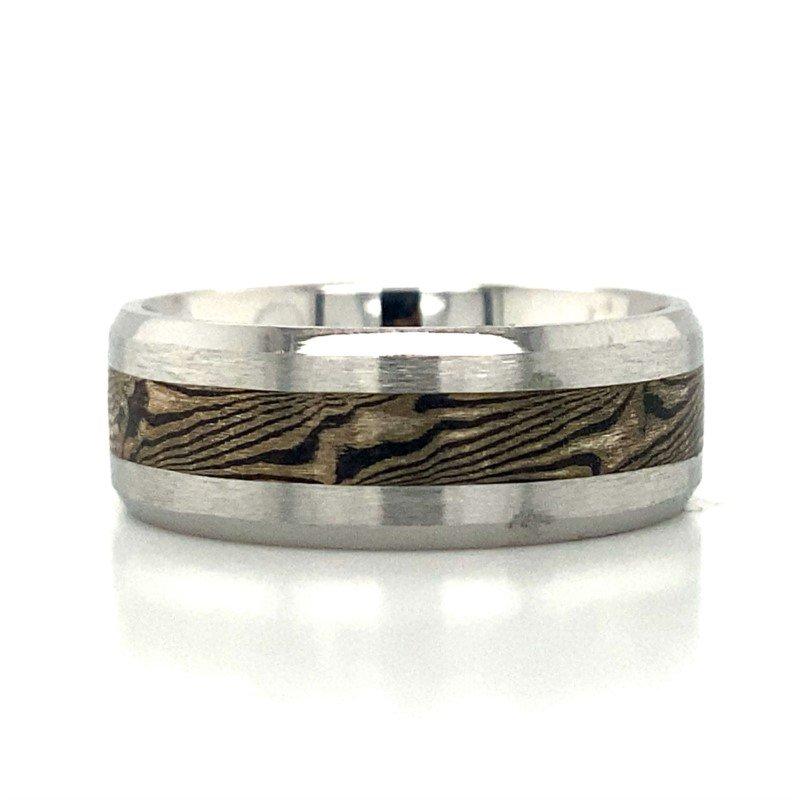 Benchmark Rings White Cobalt Chrome & Tungsten Band