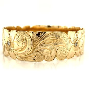 14k Yellow Gold Hawaiian Bracelet
