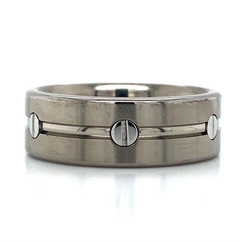 Benchmark Rings Titanium Screw Band
