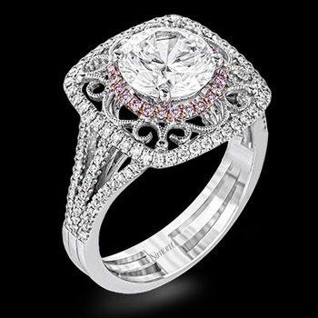 18k White & Rose Gold Diamond Ring