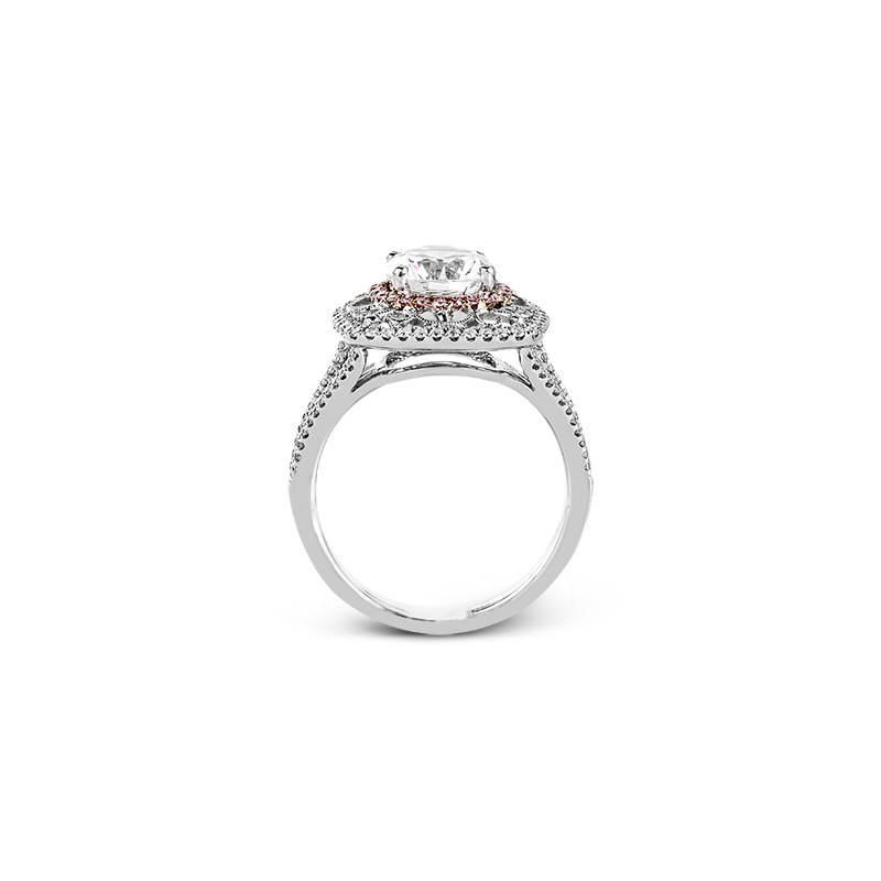Simon G 18k White & Rose Gold Diamond Ring