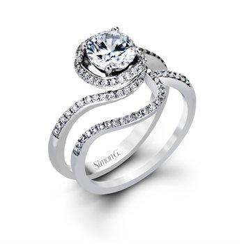 18k White Gold Swirl Ring