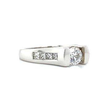 14k White Gold Channel Set Ring
