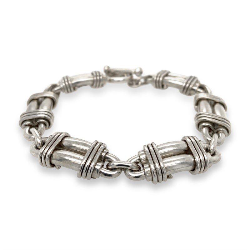 Robert Palma Designs Silver Double Link Bracelet