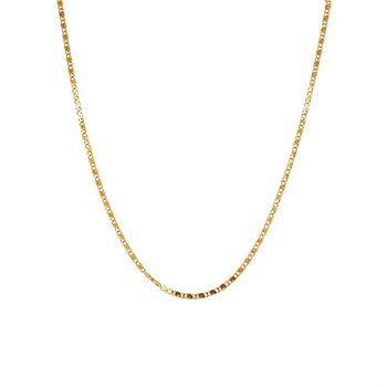 14k Yellow Gold Snail Link Chain