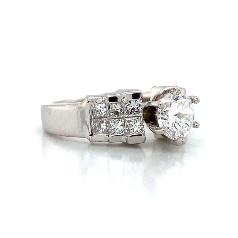 Robert Palma Designs 18k White Gold Channel Set Ring