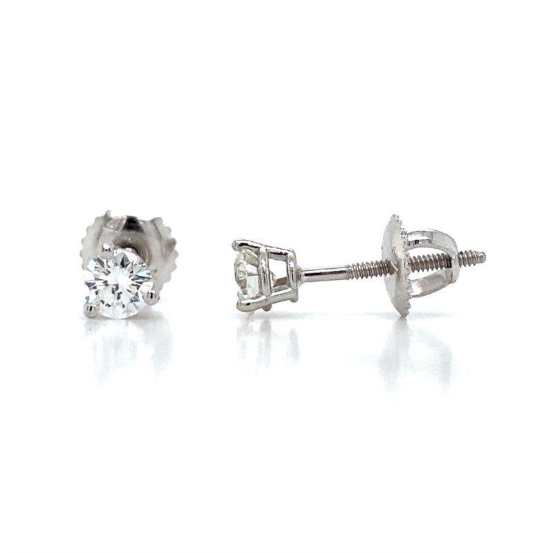Robert Palma Designs 14K White Gold Diamond Stud Earrings