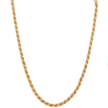 18k White & Yellow Gold Rope Chain