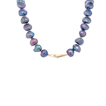 Slate Grey Fresh Water Pearl Necklace