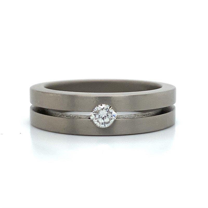 Robert Palma Designs Titanium Diamond Band