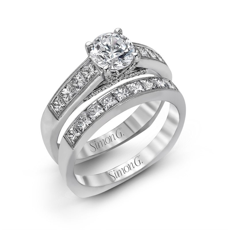 Simon G 18K White Gold Diamond Ring
