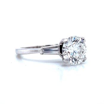 Platinum Laser Enhanced Diamond Engagement Ring