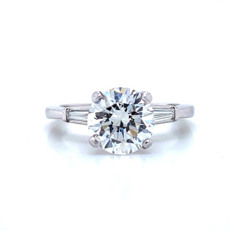 Robert Palma Designs Platinum Laser Enhanced Diamond Engagement Ring