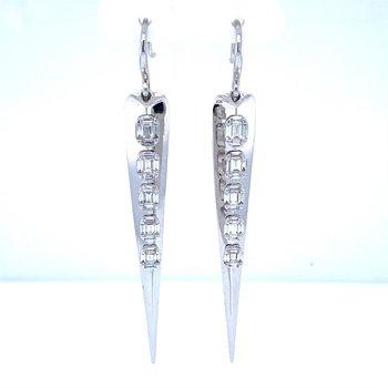 18K Dangle Diamond Earrings