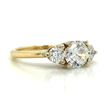 14k Yellow & White Gold Three Stone Ring