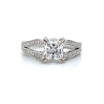 18k White Gold Open Shank Ring