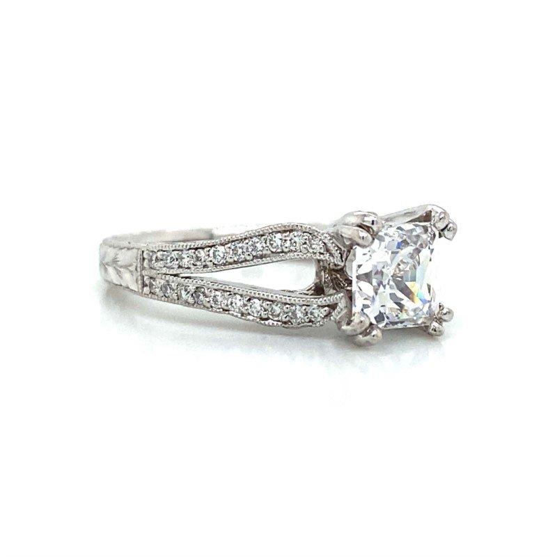 Robert Palma Designs 18k White Gold Open Shank Ring