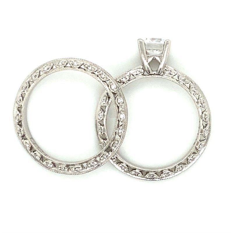 Robert Palma Designs Platinum Tacori Wedding Set