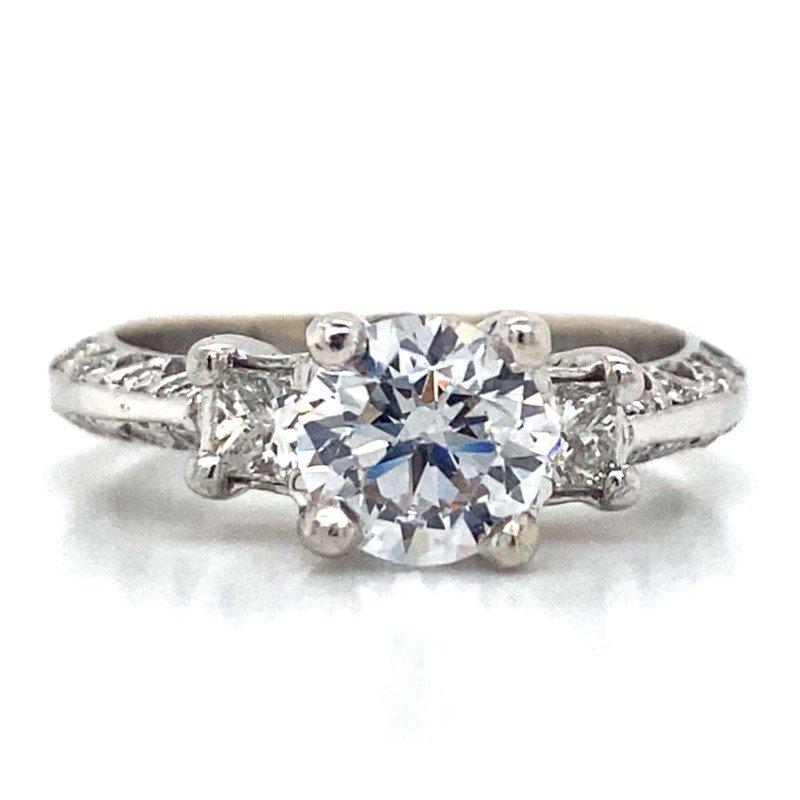Robert Palma Designs 18k White Gold Antique Ring
