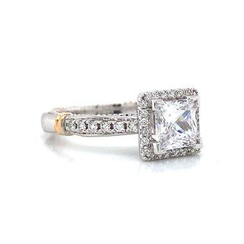 18k White & Rose Gold Verragio Halo Ring