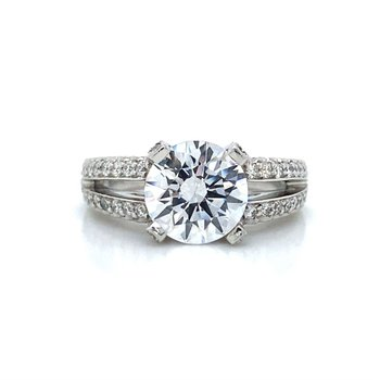 Platinum Split Shank Ring