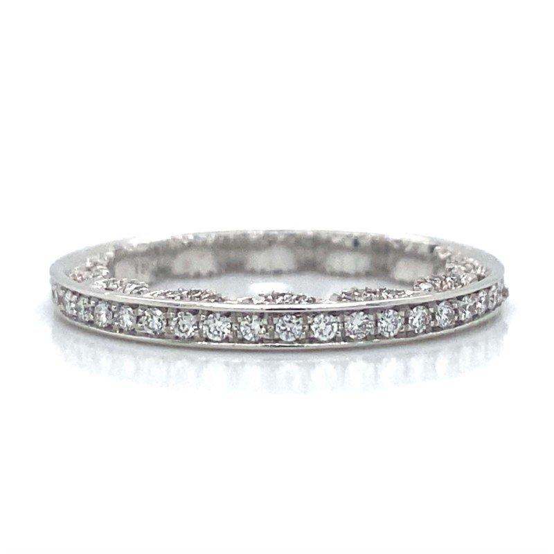 Verragio 18k White Gold Diamond Wedding Band