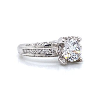 18k White Gold Verragio Engagement RIng