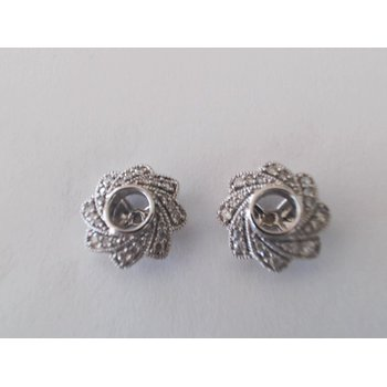 14k White Gold Earring Jackets