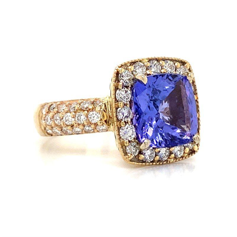Robert Palma Designs 14K Tanzanite Halo Ring