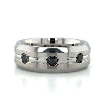 Cobalt Chrome Black Diamond Band