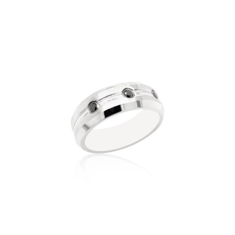 Benchmark Rings Cobalt Chrome Black Diamond Band