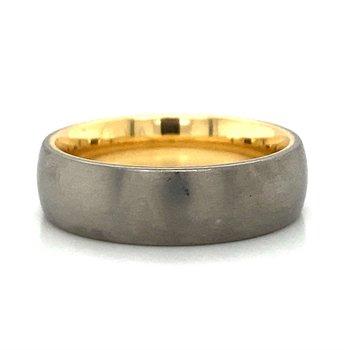 18k Yellow Gold & Titanium Band