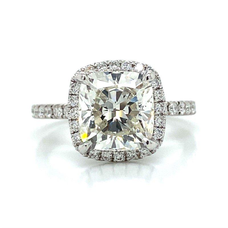 Robert Palma Designs Platinum Halo Diamond Engagement Ring