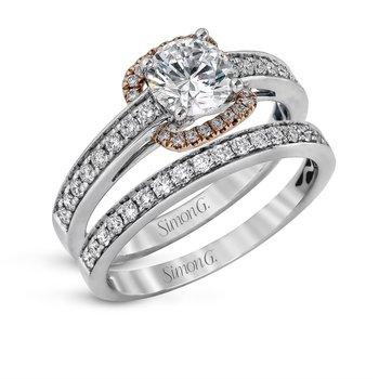 18k White & Rose Gold Wedding Set