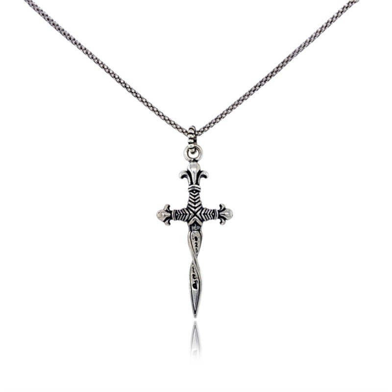 Robert Palma Designs Silver Twisted Blade Pendant