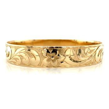 14k Yellow Gold Hawaiian Bracelet