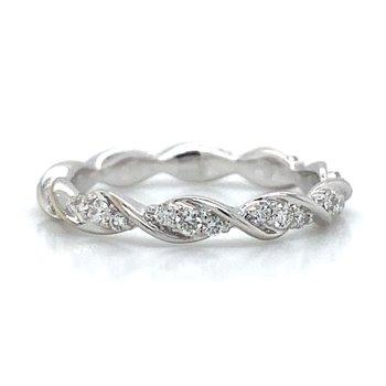 18k White Gold Eternity Infinity Diamond Band