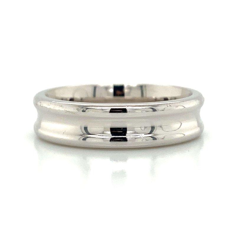 Benchmark Rings 14k White Gold Inverted Band