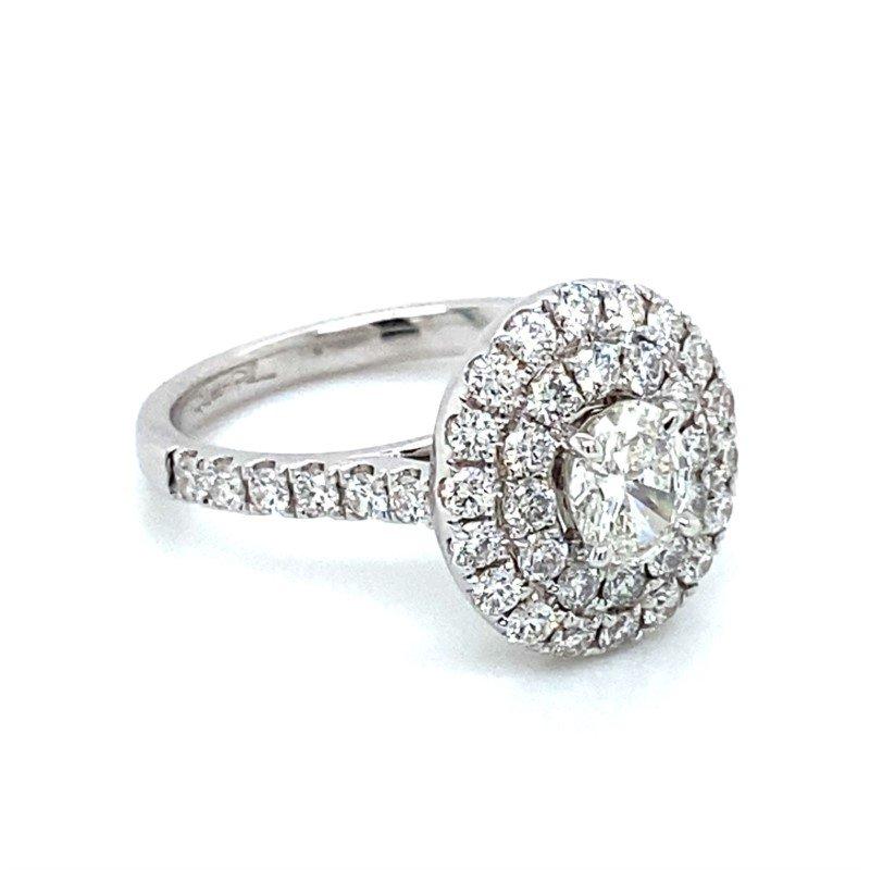 Robert Palma Designs 18K Double Halo Diamond Ring
