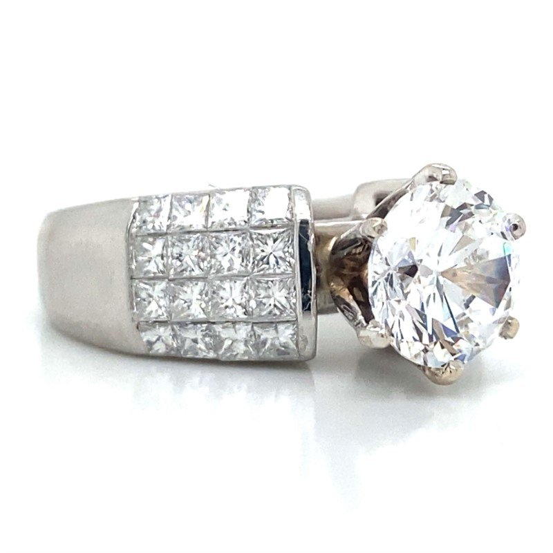 Robert Palma Designs Platinum Invisible Set Diamond Ring