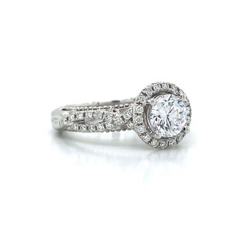 18k White Gold Verragio Crossover Ring