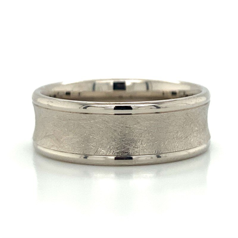 Benchmark Rings 14k White Gold Concave Band