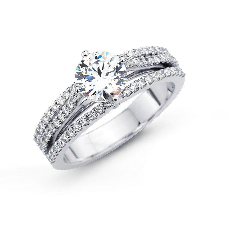 Simon G 18K White Gold Diamond with .44 Carats of Diamonds.