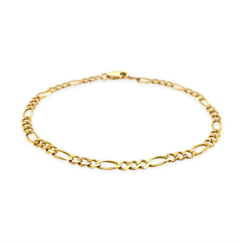 Robert Palma Designs 14k Yellow Gold Figaro Chain Bracelet