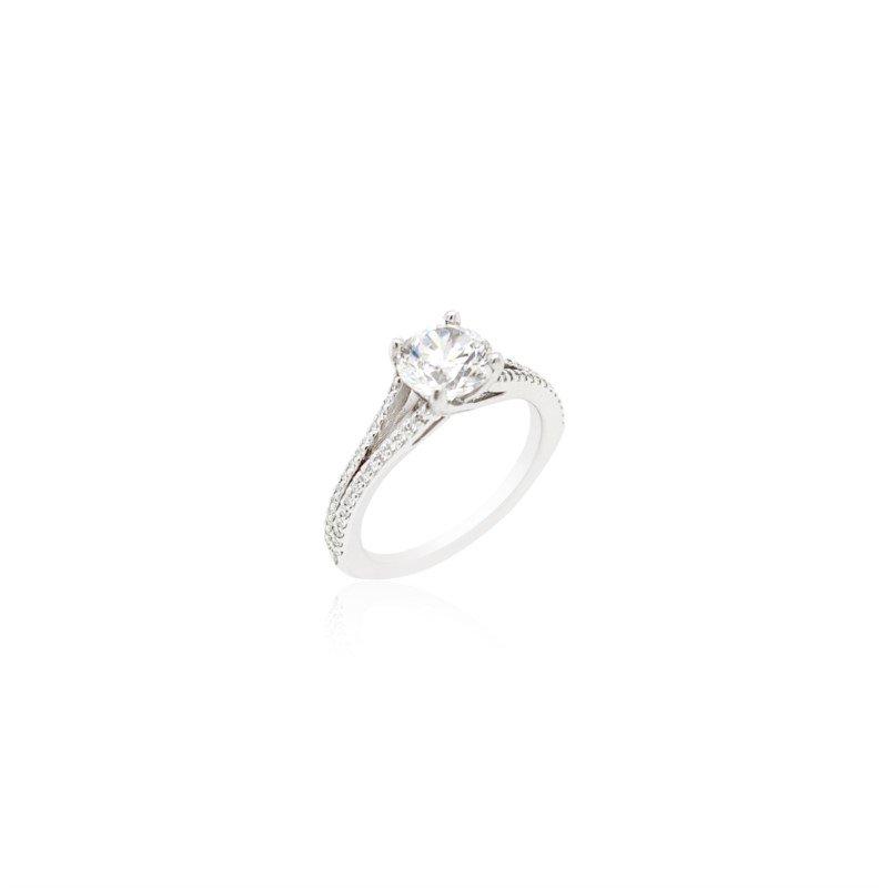 Ritani 14k White Gold Open Shank Ritani Ring