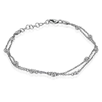 18k Diamond Chain Bracelet