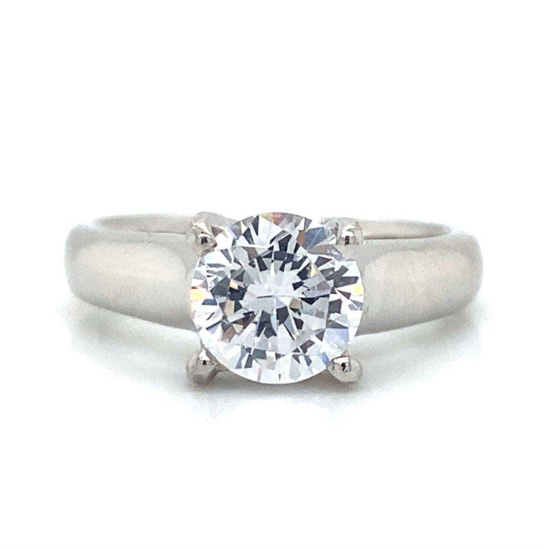 Robert Palma Designs Platinum Solitaire Ring