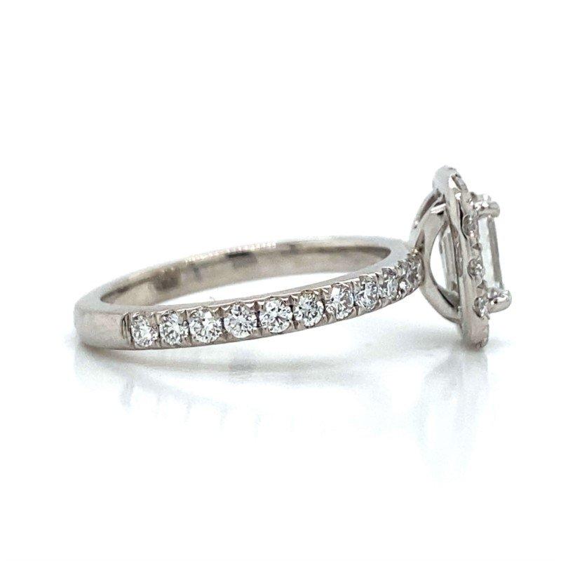 Robert Palma Designs Platinum Halo Engagement Ring