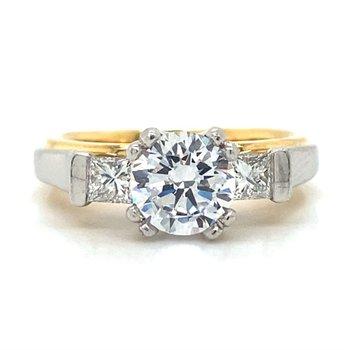 Platinum & 18k Yellow Gold Ring